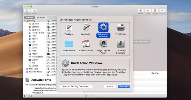 آموزش ساخت Quick Action سفارشی در مک